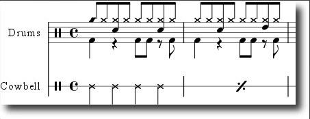note za bubnjeve